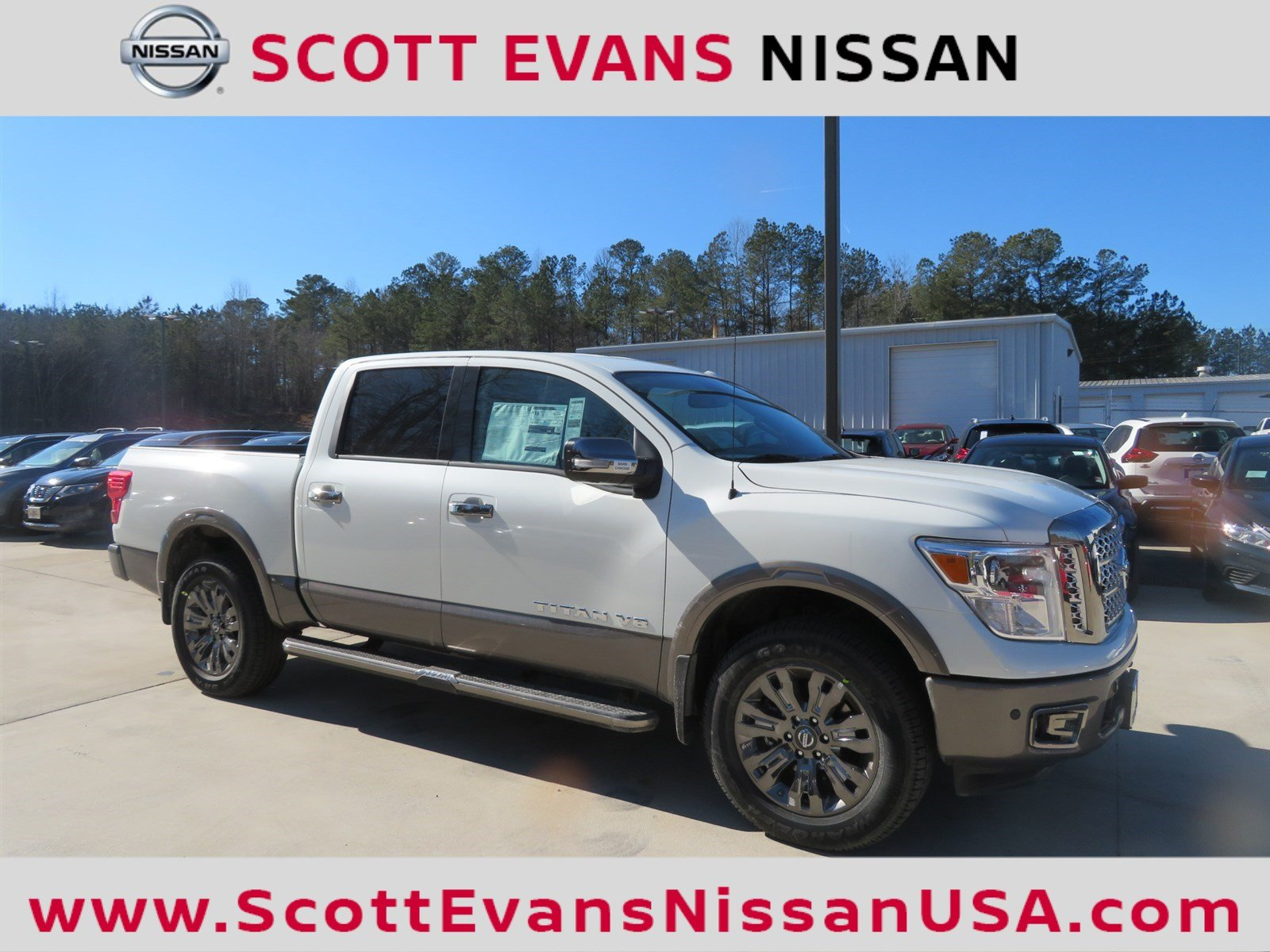new 2018 nissan titan platinum reserve crew cab pickup in carrollton 18266 scott evans nissan. Black Bedroom Furniture Sets. Home Design Ideas