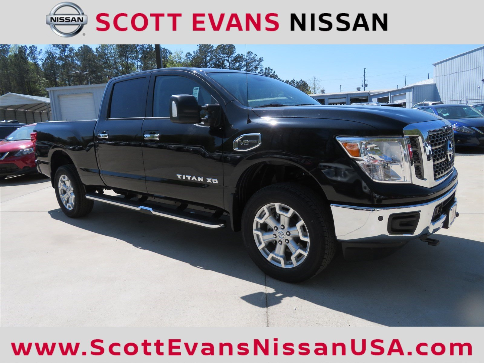 new 2018 nissan titan xd sv crew cab pickup in carrollton 18351 scott evans nissan. Black Bedroom Furniture Sets. Home Design Ideas